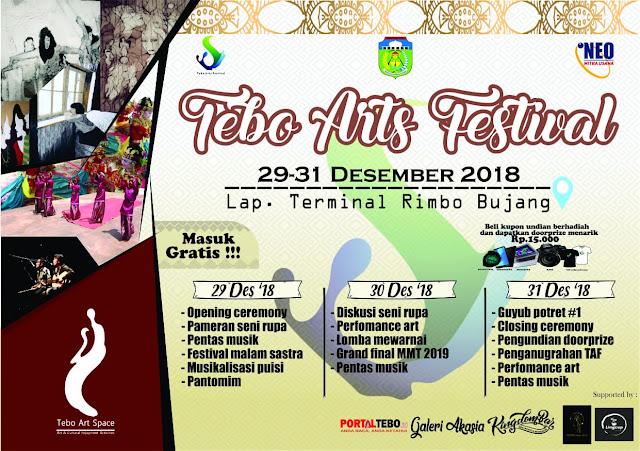 Tebo Art Space Gelar Tebo Art Festival Di Lapangan Terminal Rimbo Bujang