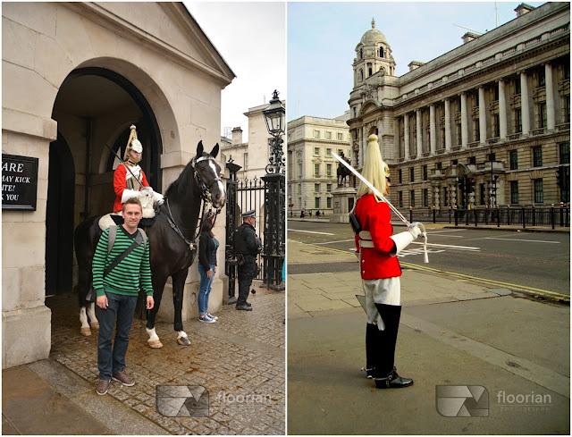 Żołnierze przed Horse Guards Parade to największym placem defilad w centralnym Londynie.