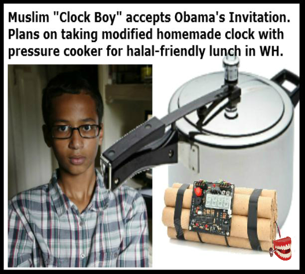 Chattering Teeth: Clock Boy accepts Obama's invitation to ...  Obama