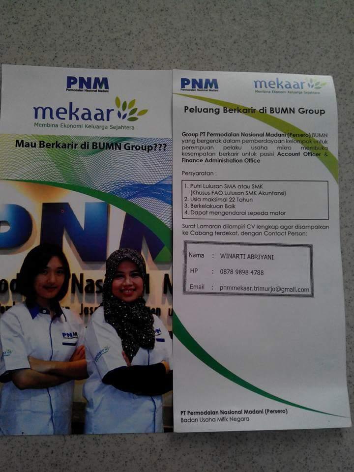 Lowongan Kerja Lampung Tengah Lowongan Kerja Lampung Lowongan Kerja Pt Pnm Persero Lampung Tengah