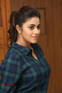 Actress Poorna Stills in Denim Jeans at Jayammu Nischayammu Raa Movie Interview 0012