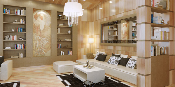 Desain Ruang Keluarga Mewah Rumahku Minimalis