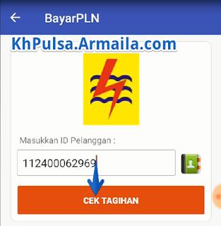 Masukkan ID Pelanggan dan klik CEK TAGIHAN