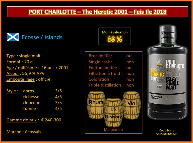 Review #567 : Port Charlotte – The Heretic 2001 – Feis Ile 2018