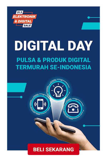 #Shopee - #Promo Digital Day Pulsa & Produk Digital Termurah Se-Indonesia