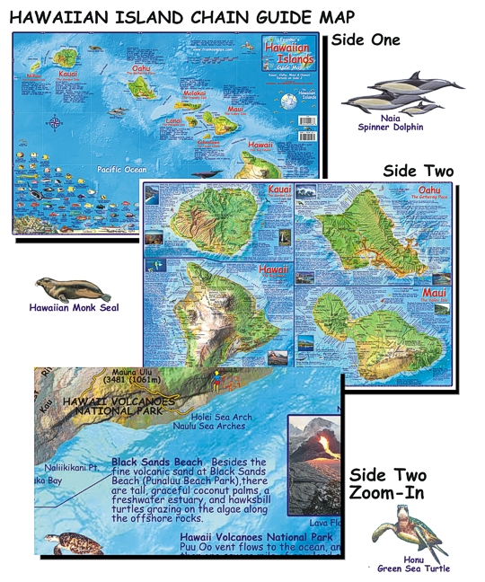 Havaí | Mapas Geográficos do Estado do Havaí | Estados Unidos da América