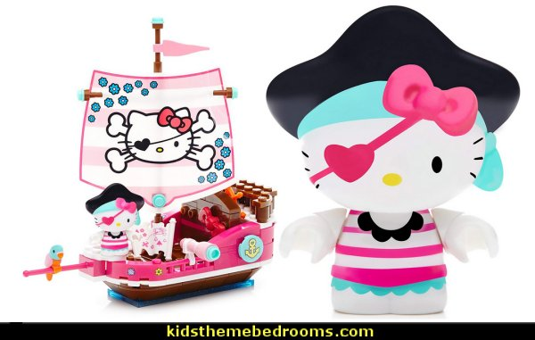 Mega Bloks Hello Kitty Pirate Cove Building Kit   Hello Kitty bedroom ideas - Hello Kitty bedroom decor - Hello Kitty bedroom decorating - Hello Kitty bedroom furniture - Hello Kitty Wallpaper Mural - Hello Kitty Throw Pillows  - Hello Kitty bedding - Hello Kitty Rugs