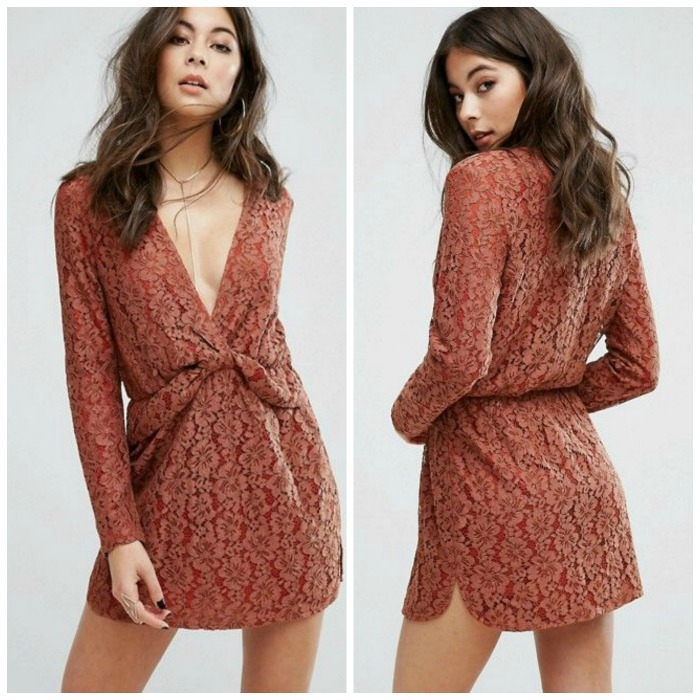 asos lace minidress