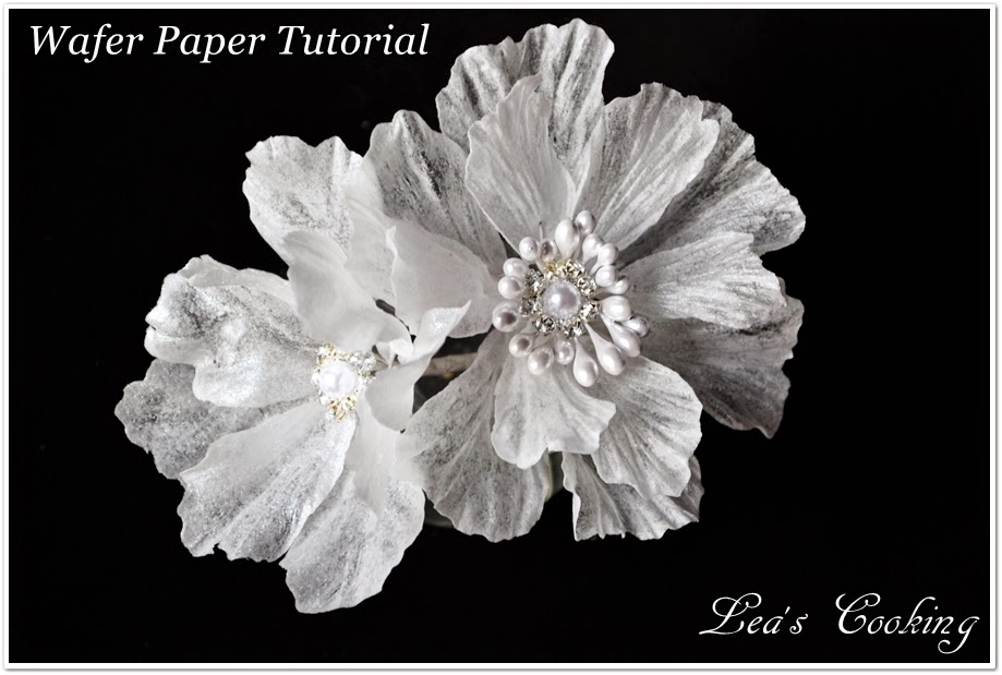 Lea S Cooking Wired Wafer Paper Flower Tutorial