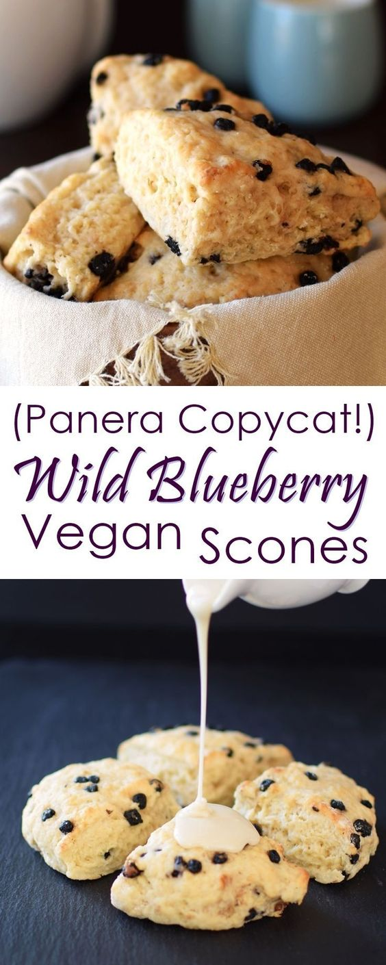 Vegan Wild Blueberry Scones (Panera Copycat!)
