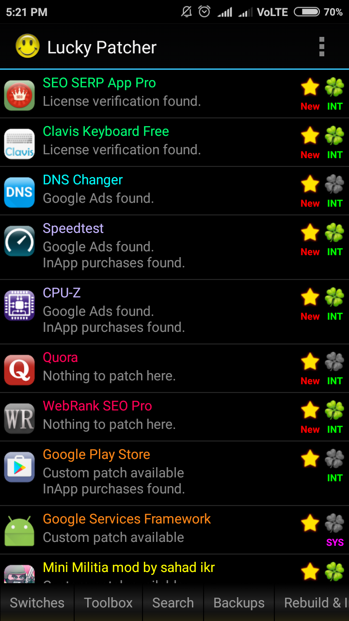 lucky patcher  for rooted phone