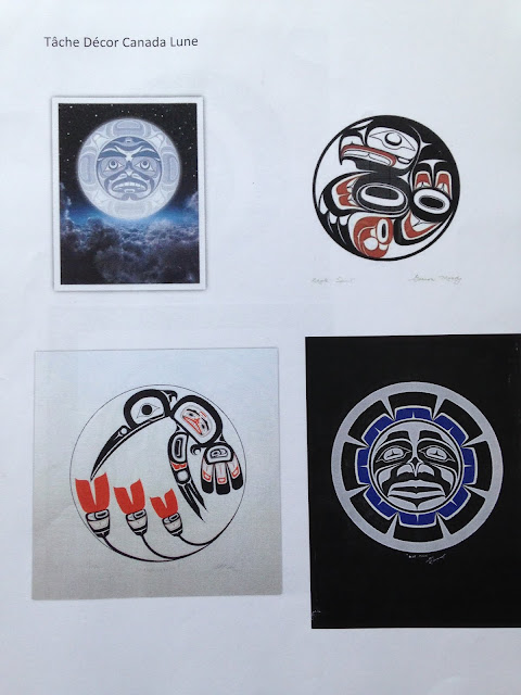 Imagier des 10 mots Lune Canada