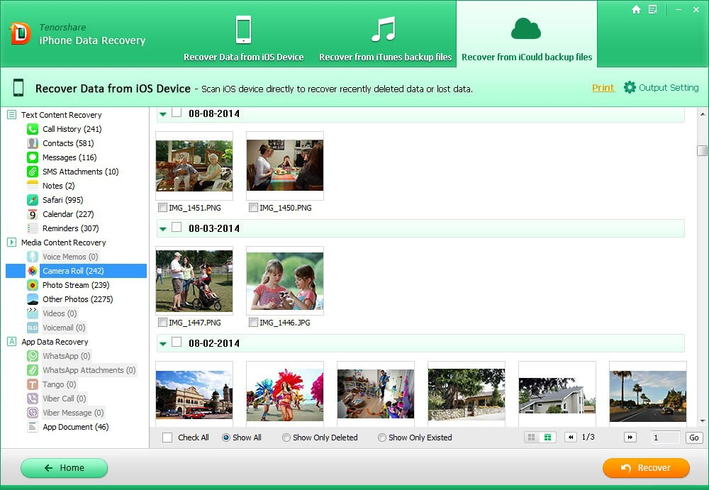 Recover Data from iCloud Backup File