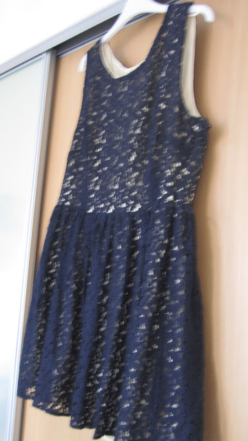 Primark Navy Lace Skater Dress