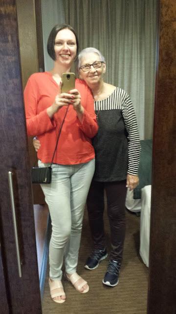Look do dia - eu e a mãe!