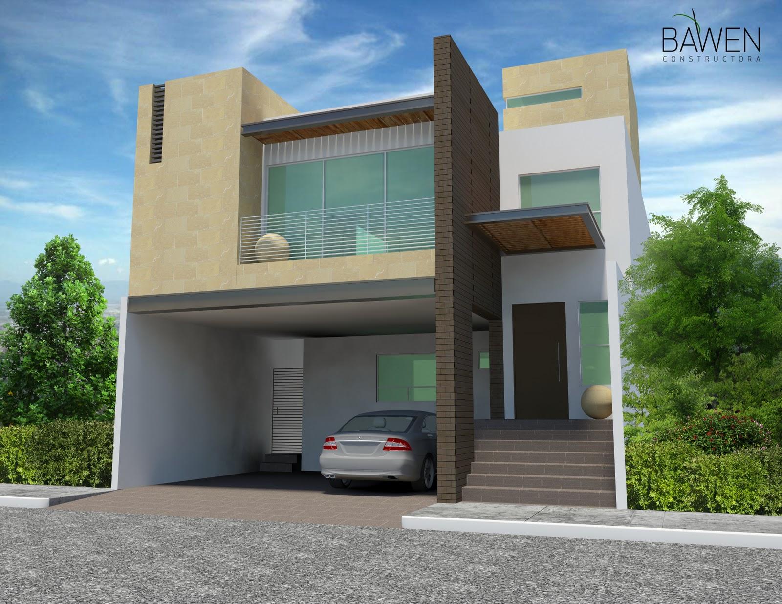 D3d for Fachadas modernas para casas de tres pisos