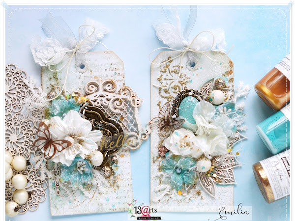 2 Mixed Media Tags - 13arts