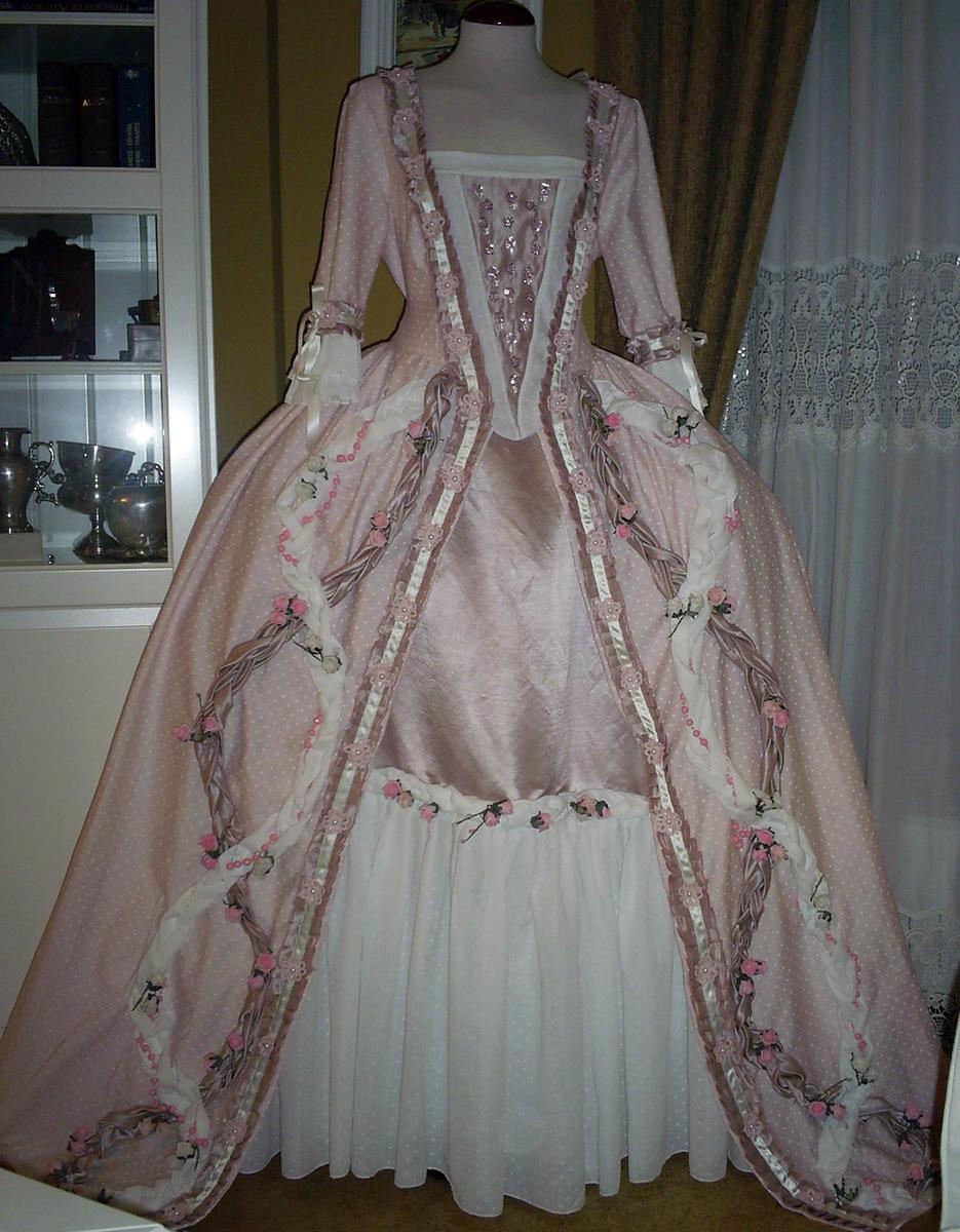 Trajes de epoca n 43 vestido rosa s xviii tallas 46 a la - Trajes de carnaval de epoca ...