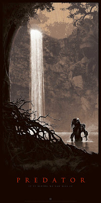 "Predator ""Thrill of the Hunt"" Wood Variant Screen Print by Matt Ferguson & Bottleneck Gallery"