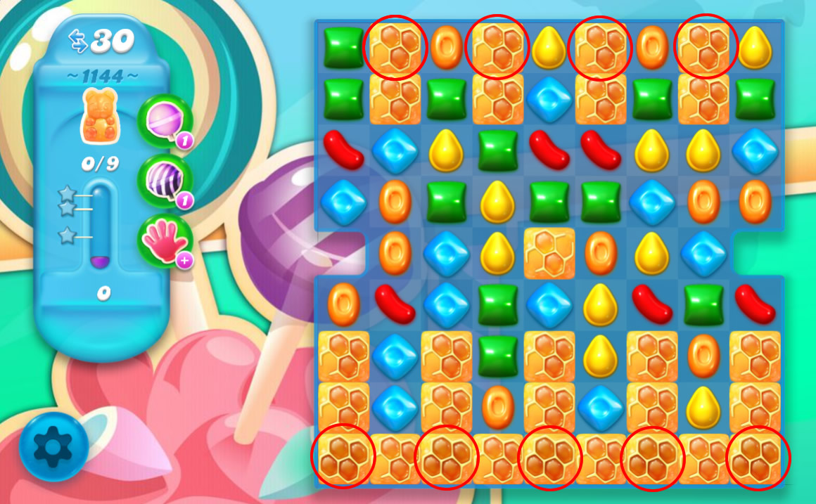 Candy Crush Soda Saga level 1144