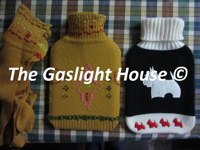 The Gaslight House water bottle covers fine merino jumper