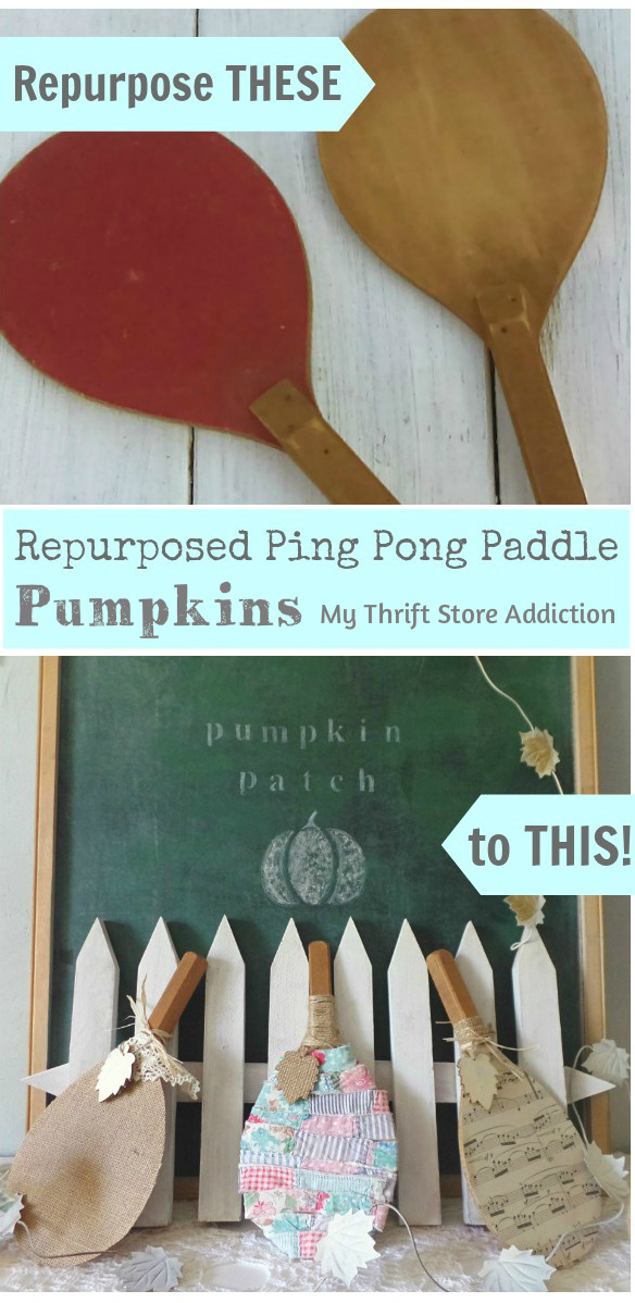 repurposed ping pong paddle pumpkins