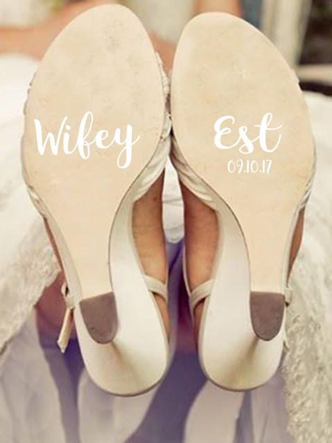 wifey shoe decal