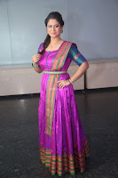 Shilpa Chakravarthy in Purple tight Ethnic Dress ~  Exclusive Celebrities Galleries 059.JPG