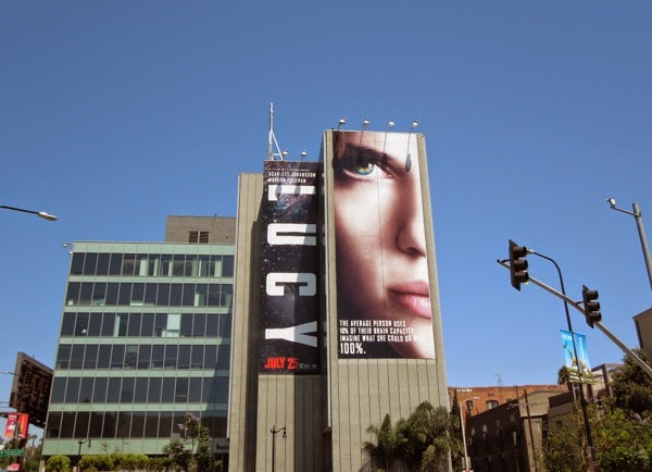 Giant Lucy movie billboard Hollywood