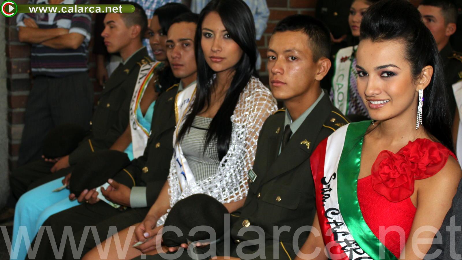 Las candidatas y sus edecanes asistieron al solemne acto