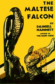Book cover for Dashiell Hammett's The Maltese Falcon in the South Manchester, Chorlton, and Didsbury book group