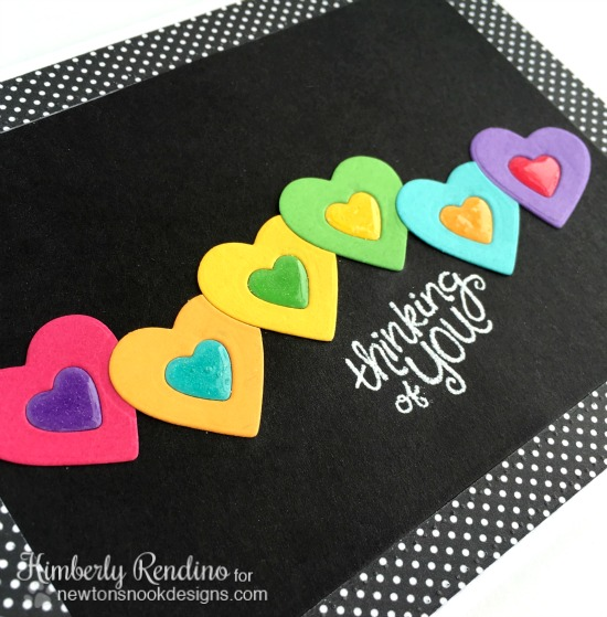 die cut heart card | Newton's Nook Designs | kimpletekreativity.blogspot.com | valentine | handmade card