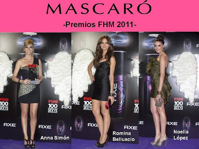 ANNA SIMON, ROMINA BELLUSCIO & NOELIA LÓPEZ CON ZAPATOS DE MASCARÓ EN LOS PREMIOS FHM 2011