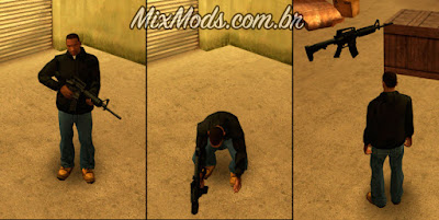 gta san andreas mod cleo weapon drop largar, dropar gun chão