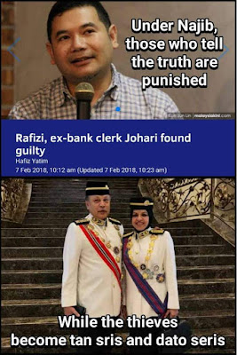 Rafizi ramli and johari jailed while thieves become datuk seri and tan seri