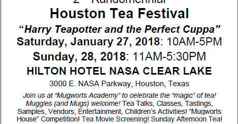 Houston Tea Festival 2018 - Harry Teapotter and the Perfect Cuppa