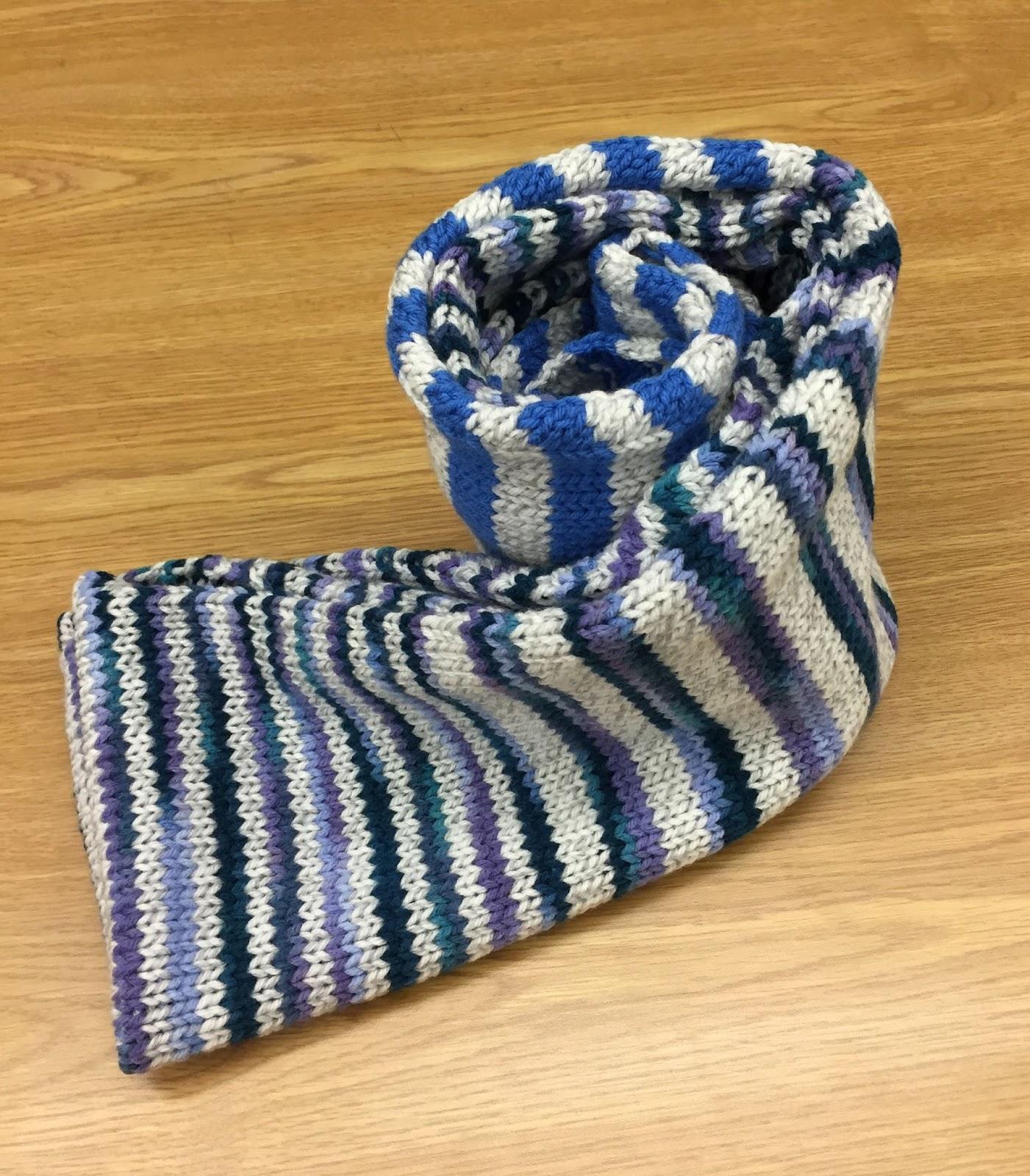 Striped Infinity Scarf Knitting Pattern : Shannon Maria Knits: Multi-Striped Infinity Scarf