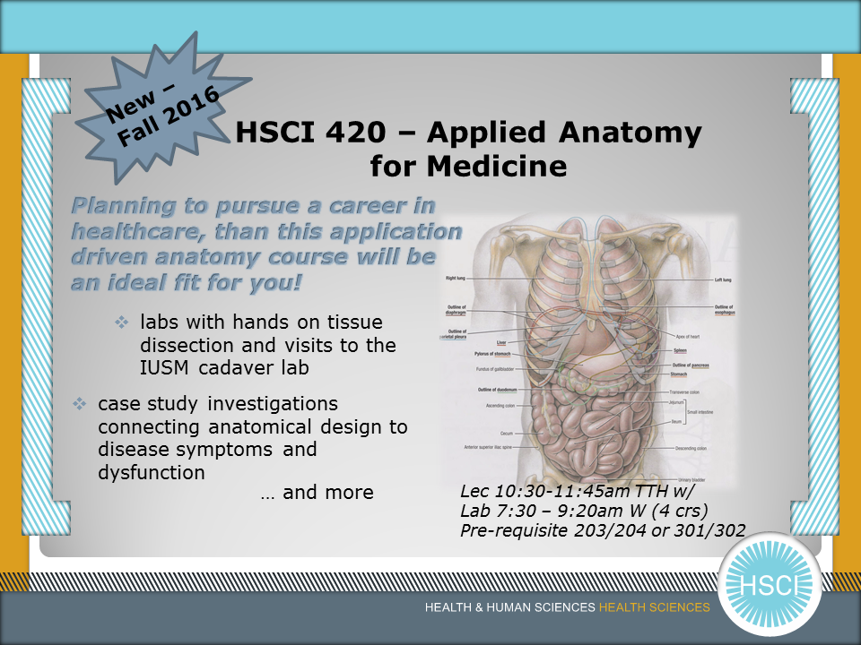 Hsci 42000 Applied Anatomy For Medicine Fall 2016 Purdue Ie