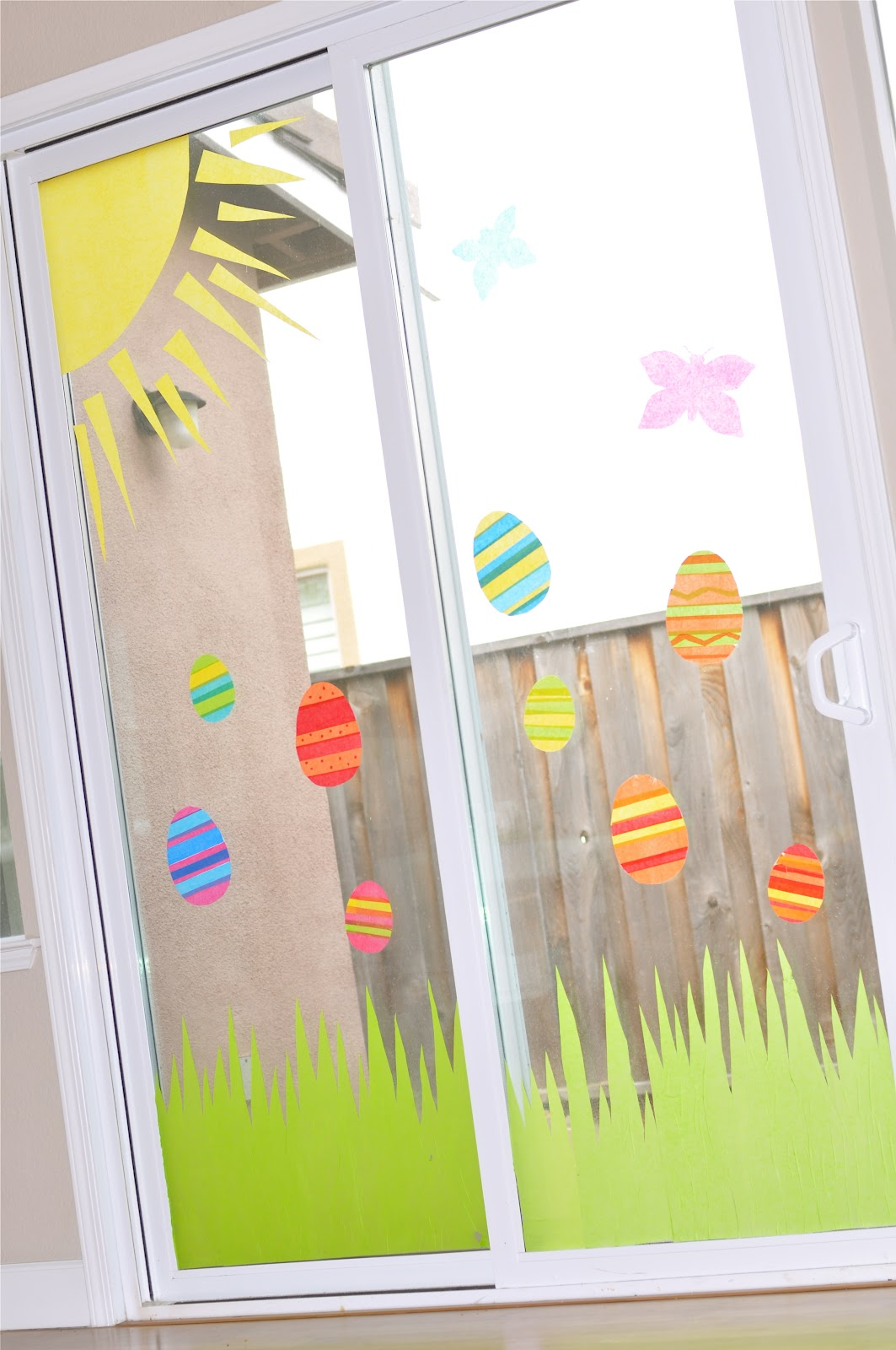 {TUTORIAL} tissue paper window art - Creative Juice