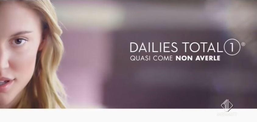 Pubblicità Dailies lenti a contatto total 1 con Foto - Testimonial Spot Pubblicitario Dailies 2017