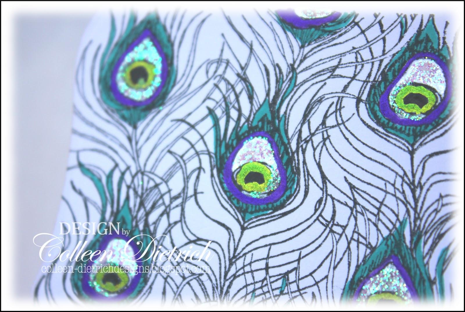 Purple Peacock Feather Clip Art
