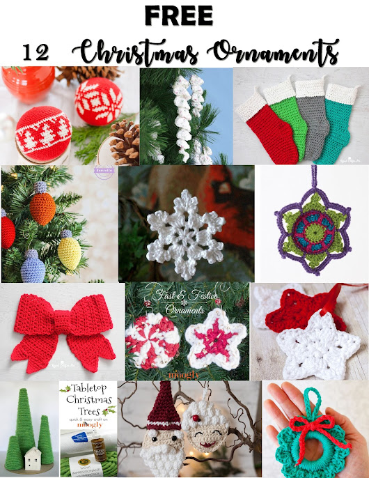 ROUND-UP : FREE 12 Christmas Ornaments
