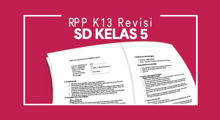 RPP K13 SD Kelas 5 Revisi