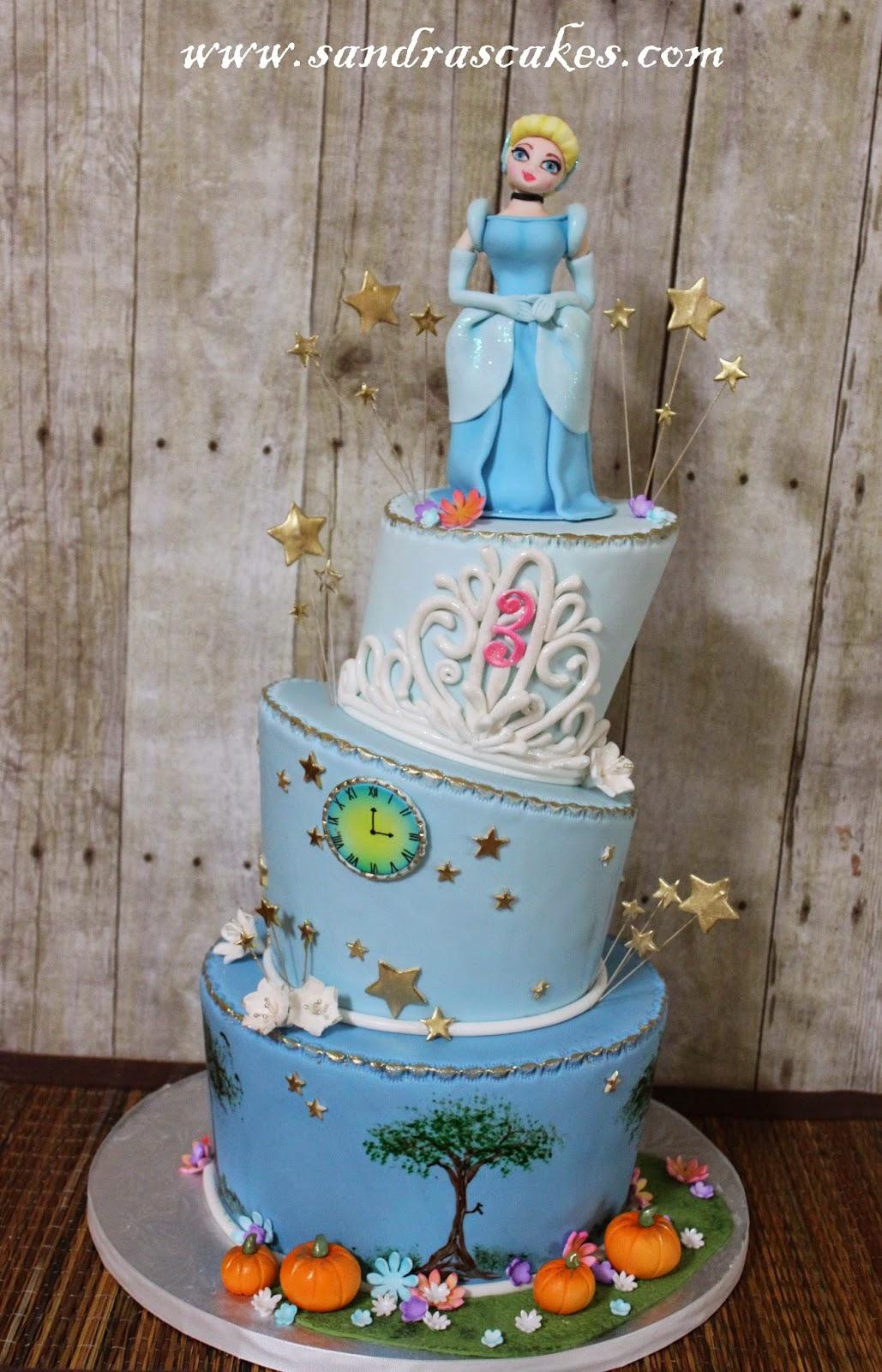 Cinderella Themed Birthday Cake
