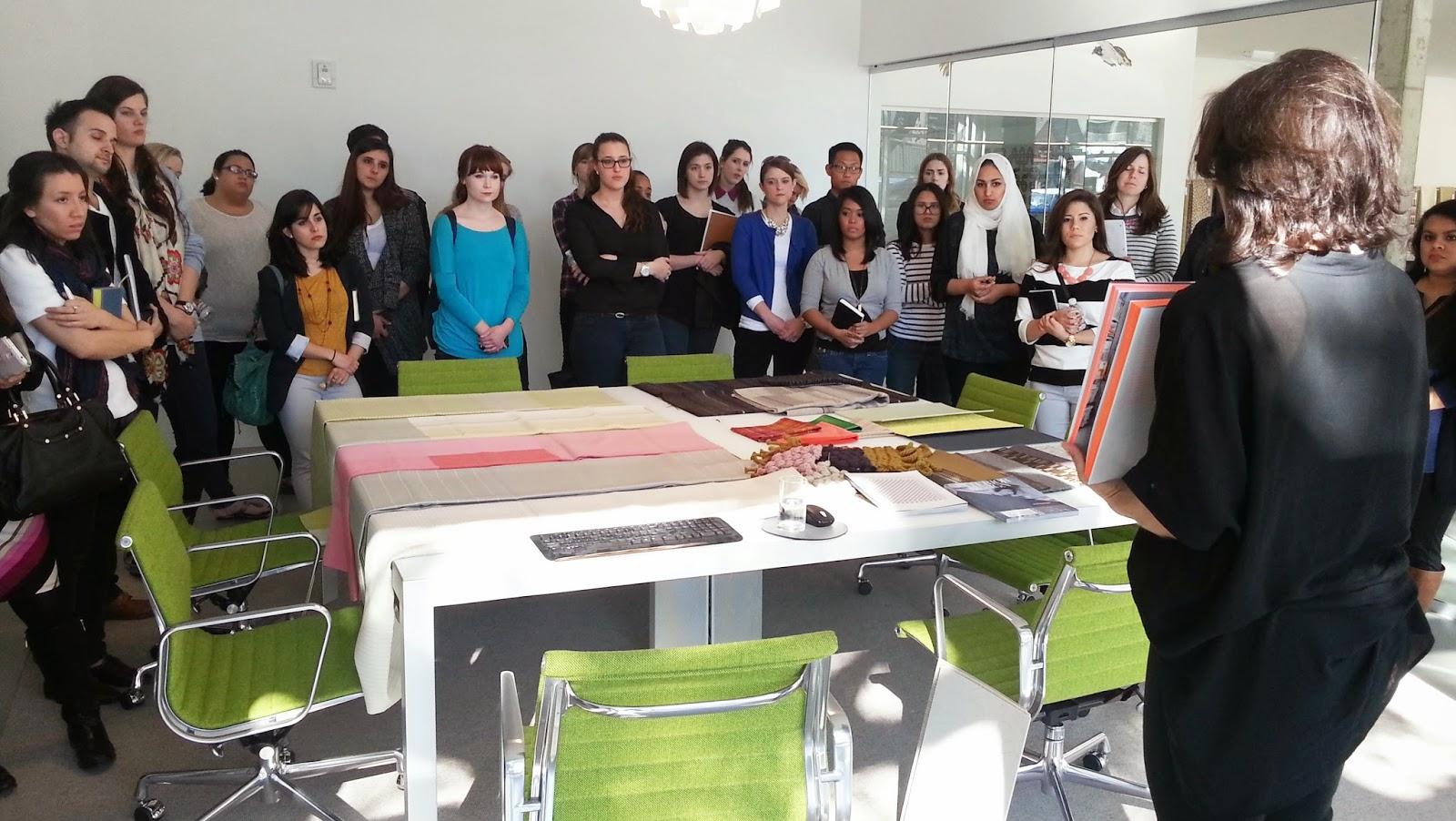 Interior Design Blog UNT Interior Design Students Toured Design