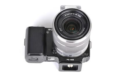 Sunwayfoto PS-N5 on SONY NEX-5 front bottom