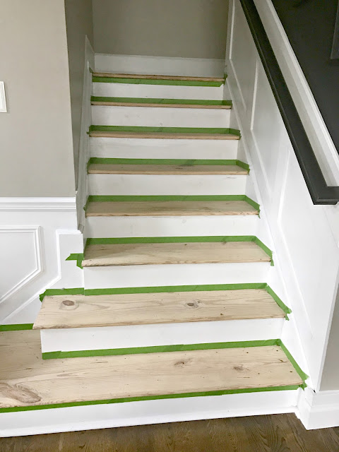 How to stain wood steps