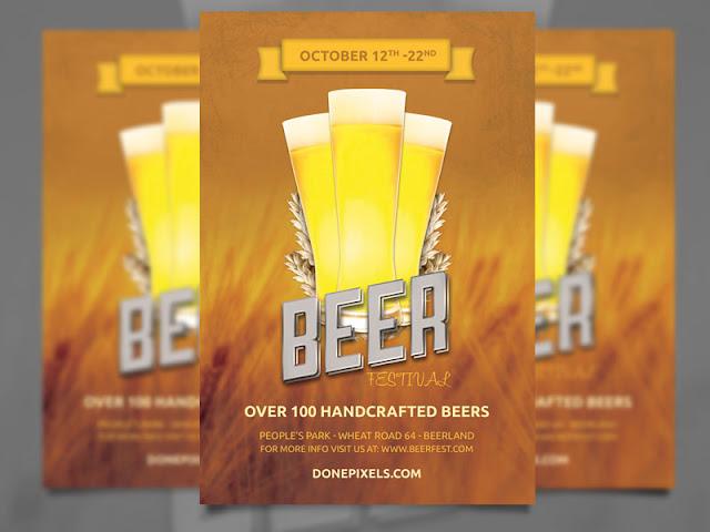 in tờ rơi thương hiệu beer