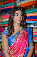 Puja Hegde looks stunning in Red saree at launch of Anutex shopping mall ~ Celebrities Galleries 076.JPG