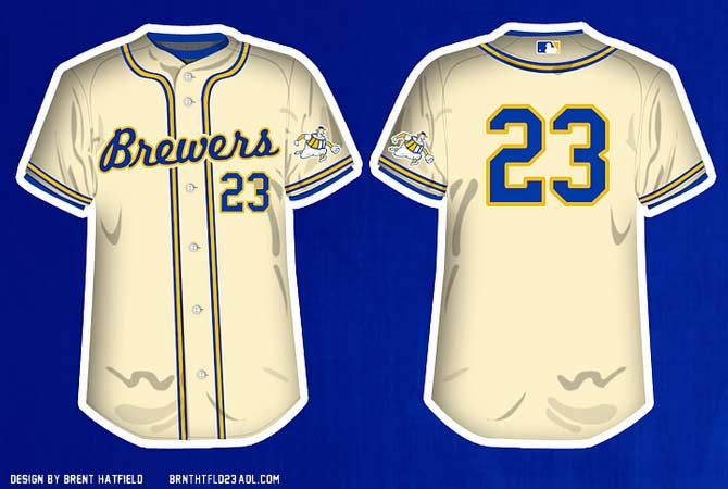 finest selection b2c5a a65d5 Borchert Field: Brewers Uniform Concept - Brent Hatfield